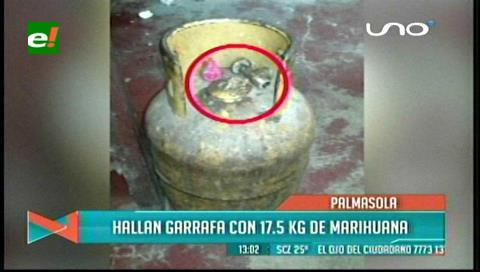 Intentan ingresar marihuana en una garrafa a Palmasola