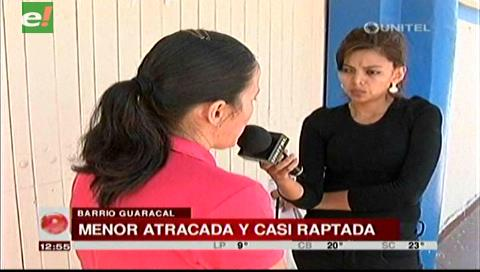 Menor atracada por cuatro hombres casi fue raptada en el Barrio Guaracal