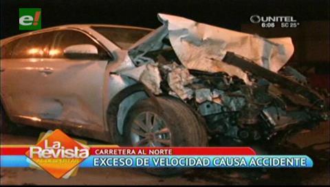 Accidente por exceso de velocidad deja varios heridos y a un pasajero muerto