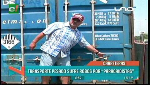 Roban mercadería de tres camiones las carreteras de Bulo Bulo y Yapacaní