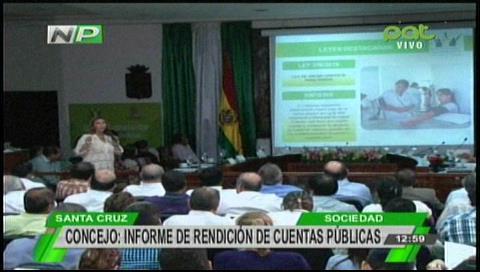 Santa Cruz: Concejo Municipal rinde cuentas y destaca gran cantidad de leyes sociales