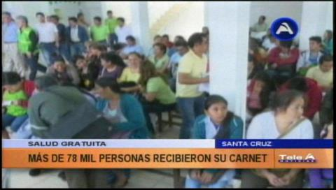 Santa Cruz: Salud gratuita llegó a 18.294 atenciones