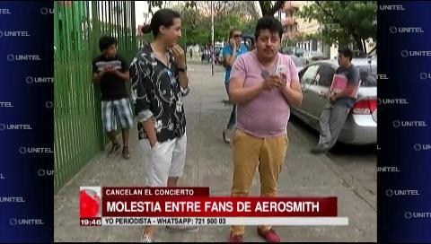Suspensión del concierto: Molestia en los fans de Aerosmith que llegaron desde diferentes partes del país