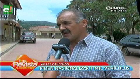 Pobladores de Samaipata piden la nacionalización de cinco mil vehículos
