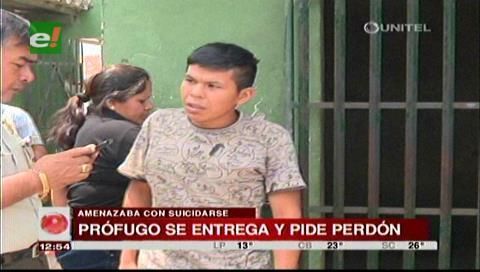 Grabó un video: Joven que amenazó con quitarse la vida se entregó a la Policía