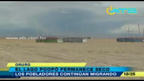 Lago Poopó continúa seco y ocasiona migración de pobladores