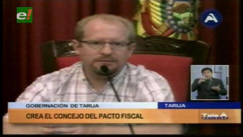 Gobernación de Tarija crea el Consejo Departamental del Pacto Fiscal