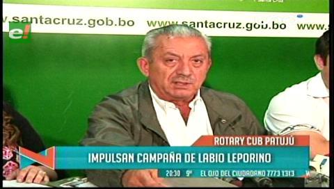 """Gobernación cruceña y rotarios se unen por una """"Carita Feliz"""""""