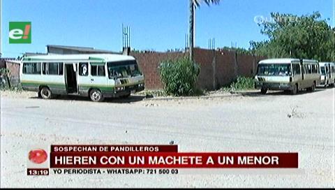 Joven es atacado con machete por supuestos pandilleros en la Pampa de la Isla
