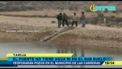 Tarija: El Puente sufre por falta de aguas subterráneas