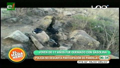 Cochabamba: Pandilla quema a joven por venganza pasional