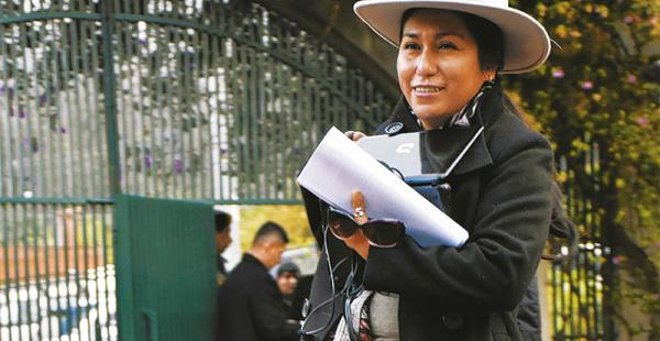 La ministra Marianela Paco inspecciona el Centro Internacional de Convenciones y Cultura, lugar donde será la reunión binacional