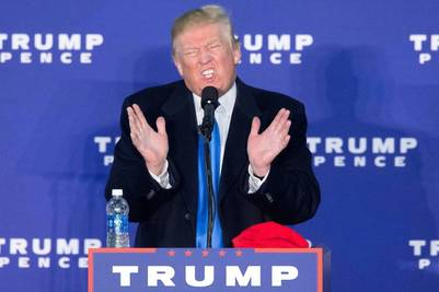 El republicano Donald Trump en un acto en Leesburg, Virginia. EFE