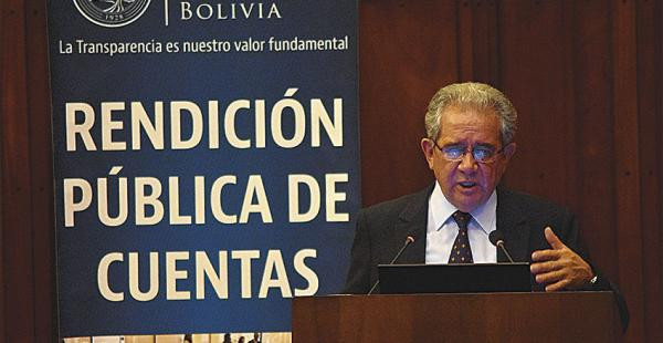 El titular del BCB, Marcelo Zabalaga, hizo conocer que el país registrará una inyección de billetes nuevos