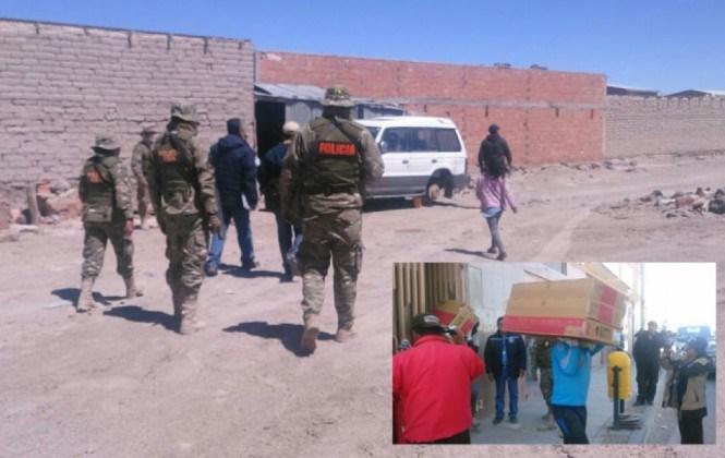 Operativo en Sabaya concluyó con 21 allanamientos y nueve camiones de mercadería incautada