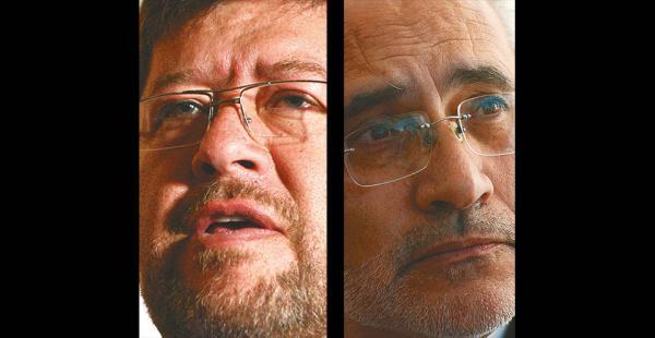 El político opositor Samuel Doria Medina y el expresidente Carlos Mesa son potenciales adversarios del MAS en las elecciones de 2018