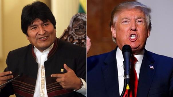 Evo Morales saludó la victoria de Donald Trump.