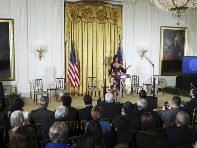 Michelle Obama, durante su discurso