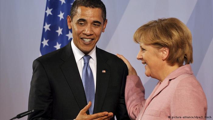 Deutschland - NATO Gipfel mit Barack Obama und Angela Merkel (picture-alliance/dpa/J. Koch)