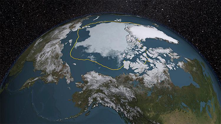 El hielo en el Océano Ártico en 2015
