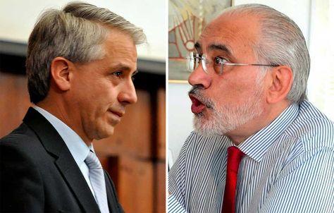Álvaro García Linera y Carlos Mesa