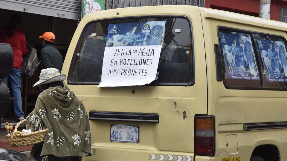 La escasez ha provocado protestas en varias zonas rurales ya que las cosechas dependen del riego. Foto: AFP / Aizar Ralde