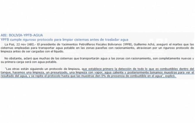 YPFB emite comunicado sobre cisternas que contradice declaración de su presidente