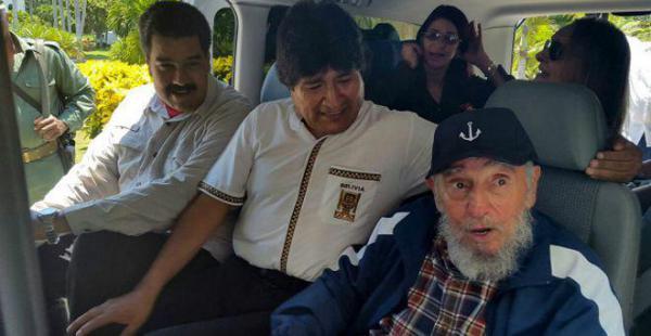 Evo Morales junto al expresidente cubano Fidel Castro en una anterior visita a Cuba