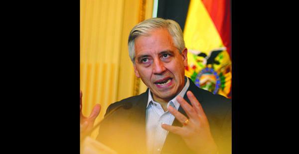 El vicepresidente del Estado Plurinacional, García Linera, habló sobre la muerte del exmandatario cubano