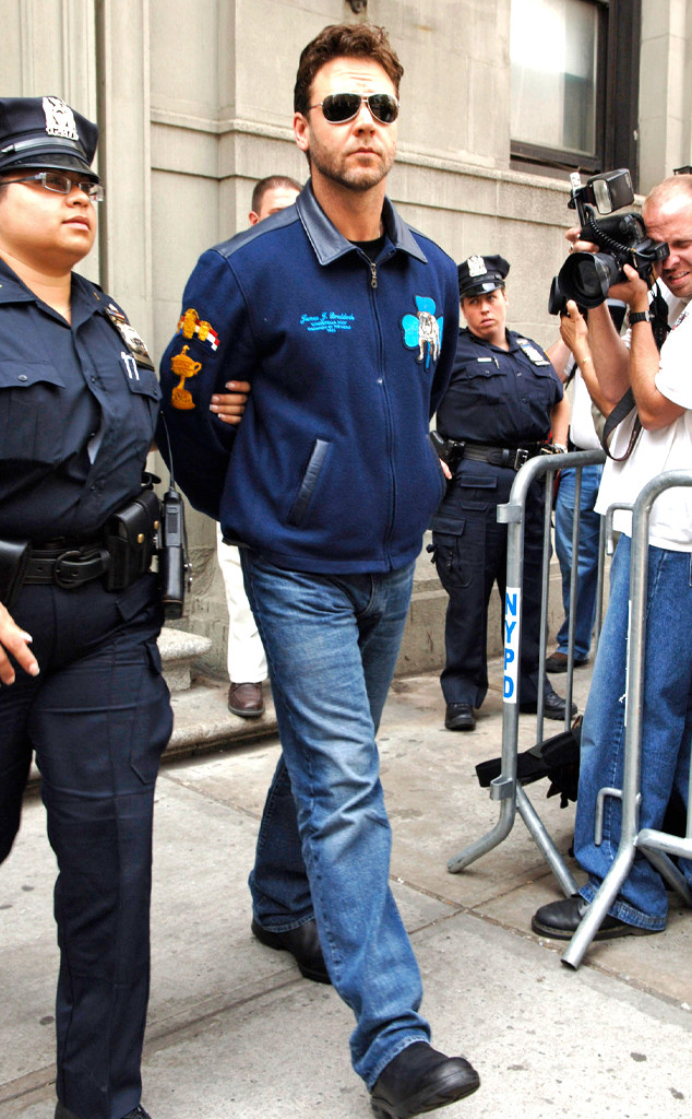 Russell Crowe, Arrested