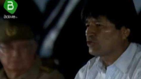 El presidente Evo Morales en el homenaje póstumo a Fidel Castro