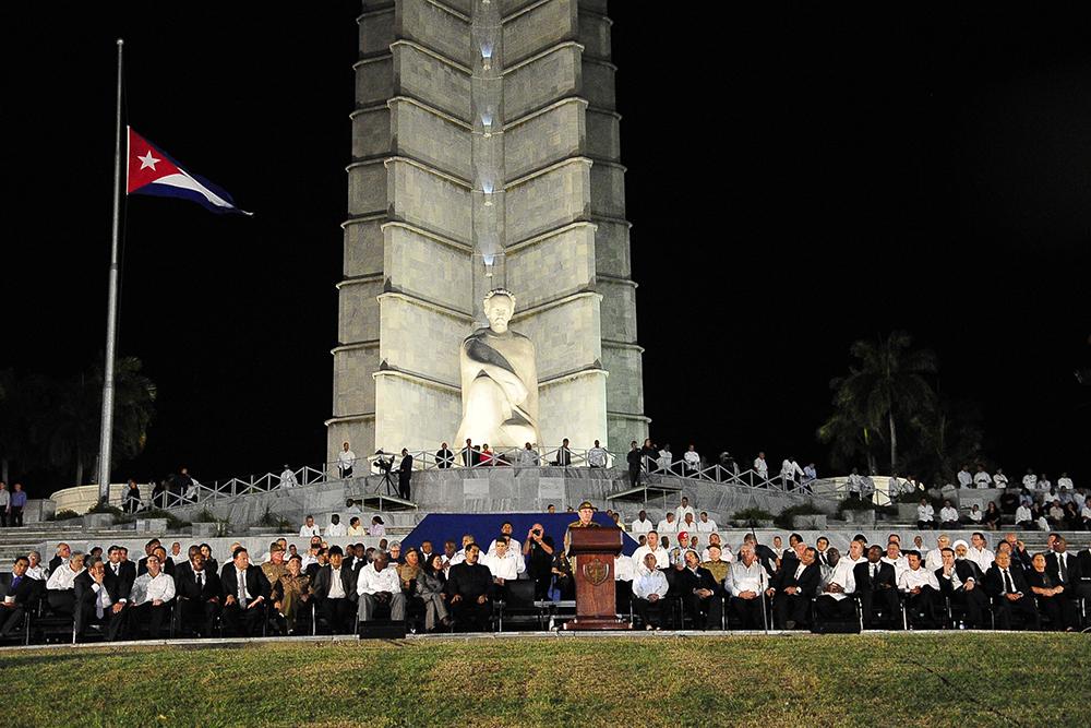 Acto de masas en la Plaza de la Revolución José Martí, de La Habana, en homenaje al líder histórico de la Revolución Cubana, Fidel Castro Ruz.