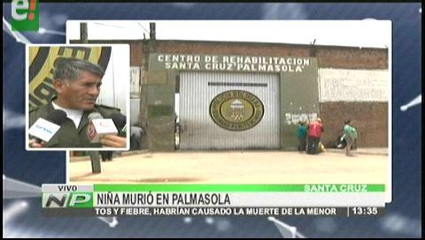 Niña de dos años muere en el penal de Palmasola