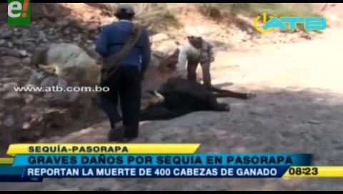 Municipio de Pasorapa afectado por la sequía