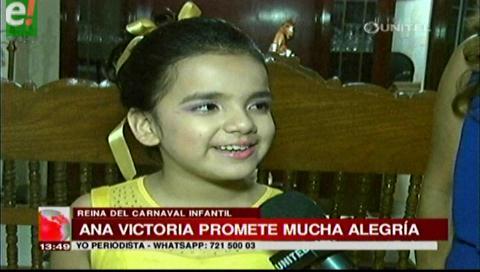Ana Victoria, reina del carnaval infantil 2017