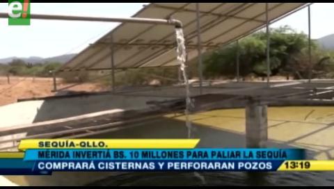 Quillacollo invertirá Bs. 10 millones para paliar la sequía