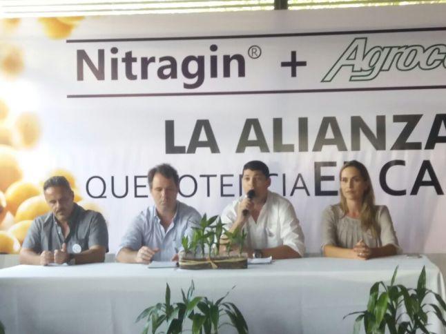 Ejecutivos de Agrocentro y Novozymes