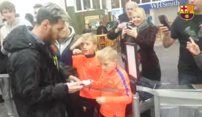 La imperdible reacción de un niño al ver de cerca a Lionel Messi
