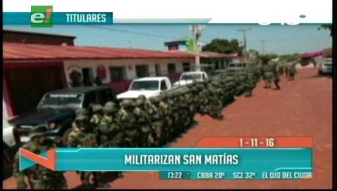 Titulares de TV: Militarizan San Matías, buscan resguardar el orden por el feriado de Todos Santos