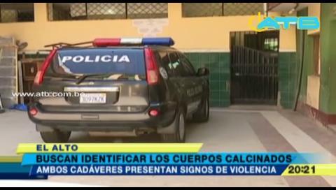 Felcc busca identificar cuerpos calcinados hallados en El Alto