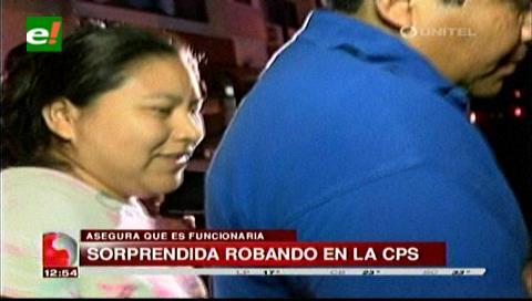 Trabajadores de la CPS sorprendieron a una mujer robando en los casilleros