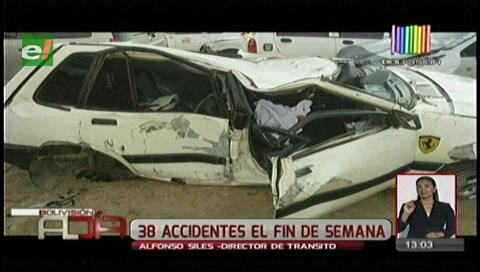 Accidentes de tránsito marcaron el fin de semana en la capital cruceña