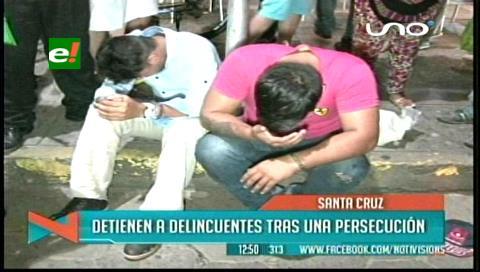 Policías detienen a dos delincuentes tras una persecución