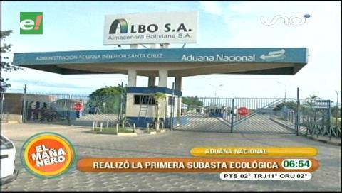 Aduana: Se realizó la primera subasta ecológica en Santa Cruz