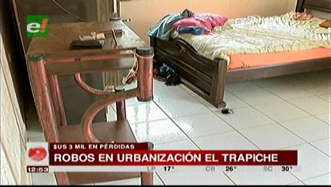 Santa Cruz: Delincuentes roban en dos domicilios de la urbanización El Trapiche