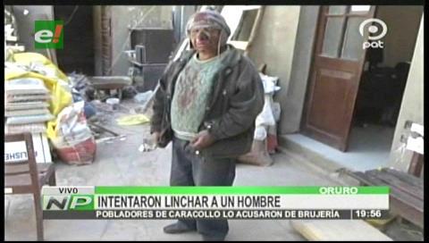 """Caracollo: Presunto """"brujo"""" se salva de ser linchado por los comunarios"""