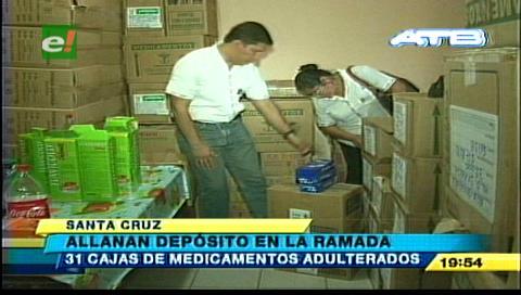 Decomisan medicamentos adulterados de un depósito en La Ramada