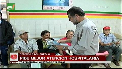 Santa Cruz: Defensor del Pueblo anuncia gestiones para mejorar la atención hospitalaria