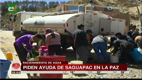 Saguapac envía a técnicos a La Paz para ayudar con el racionamiento de agua