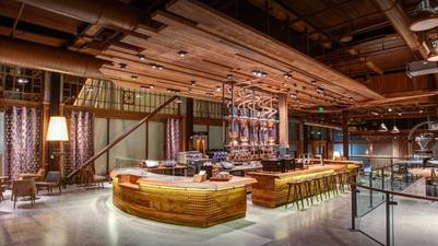 Imágenes de la lujosa tienda Starbucks Reserve Roastery en Seattle, EE.UU. (Starbucks)